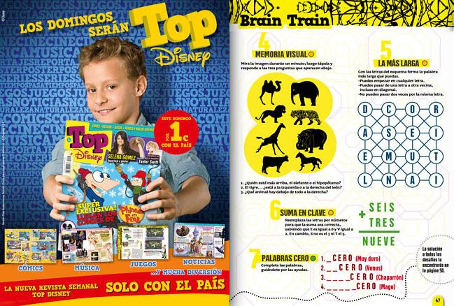 """Nuestros entretenimientos """"Top"""" los publica """"El País"""""""