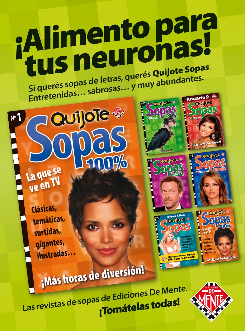 Afiche Quijote Sopas para kioscos.