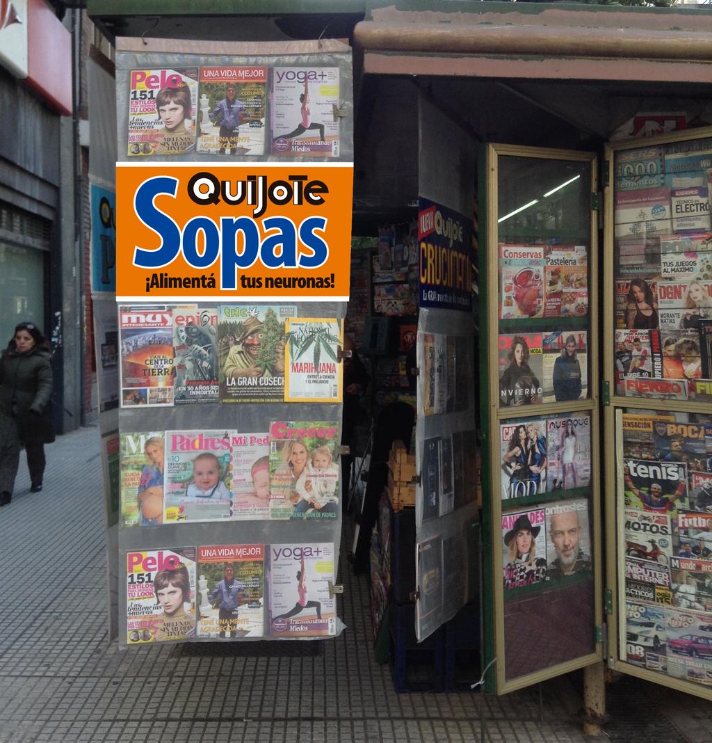 Exhibidor de Quijote Sopas para kioskos